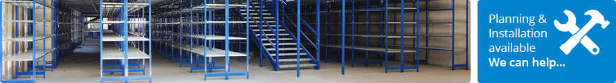 E4 Modular Shelving providing the storage for a warehouse