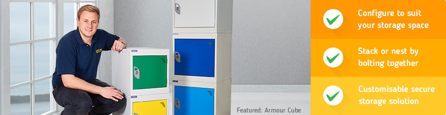 Cube lockers can be configured to suit your storage space