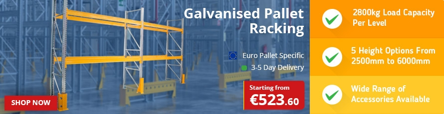 Galvanised Pallet Racking for Euro Pallets