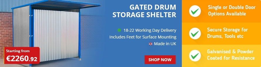 Gated Galvanised Panel Drum Store