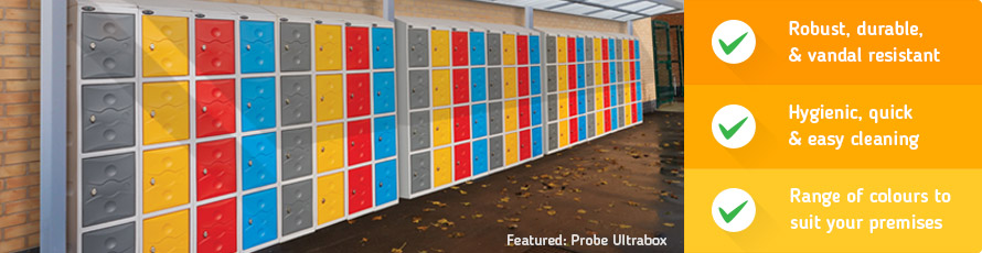 Robust plastic lockers