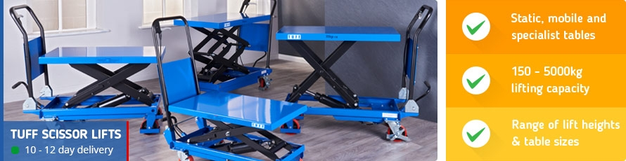 Scissor Lift Tables and Trolleys