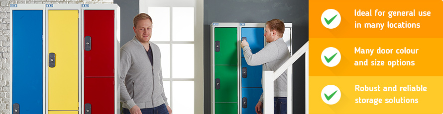 Standard storage lockers are ideal for general use and popular with staff