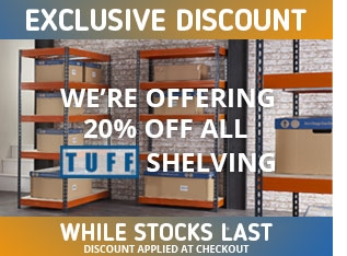 Exclusive Discount 20% off TUFF Shelving